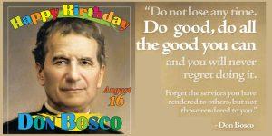 Birthday of Don Bosco
